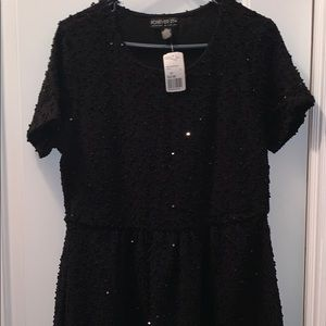 Forever 21 plus size black sequins dress